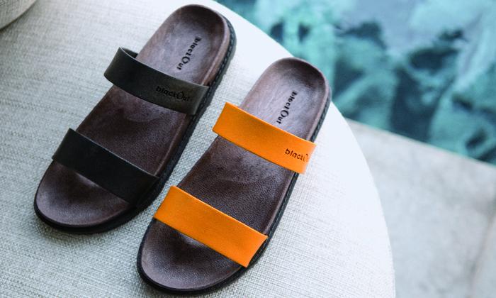 (複製)blackOut|訂製寬帶拖鞋-藍底+藍鞋帶