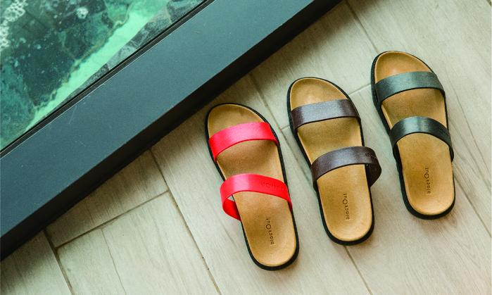 (複製)blackOut|訂製寬帶拖鞋-巧克力底+黑鞋帶