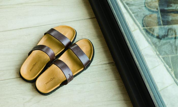 (複製)blackOut 訂製寬帶拖鞋-巧克力底+黑鞋帶