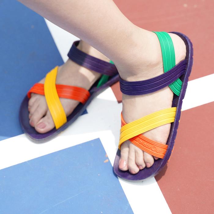 (複製)blackOut|訂製X系列涼鞋-限定彩色款-紅底+彩色鞋帶