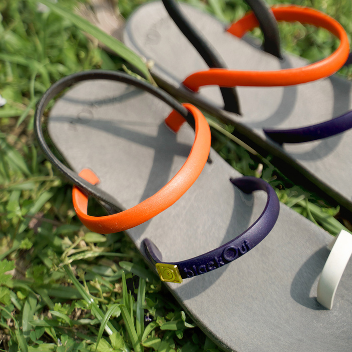 (複製)blackOut|訂製細帶涼鞋-黃底+橘鞋帶