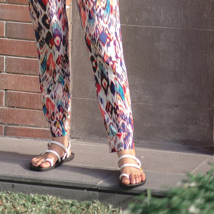 (複製)blackOut|訂製趾環涼鞋-素色款-黃底+芥黃鞋帶