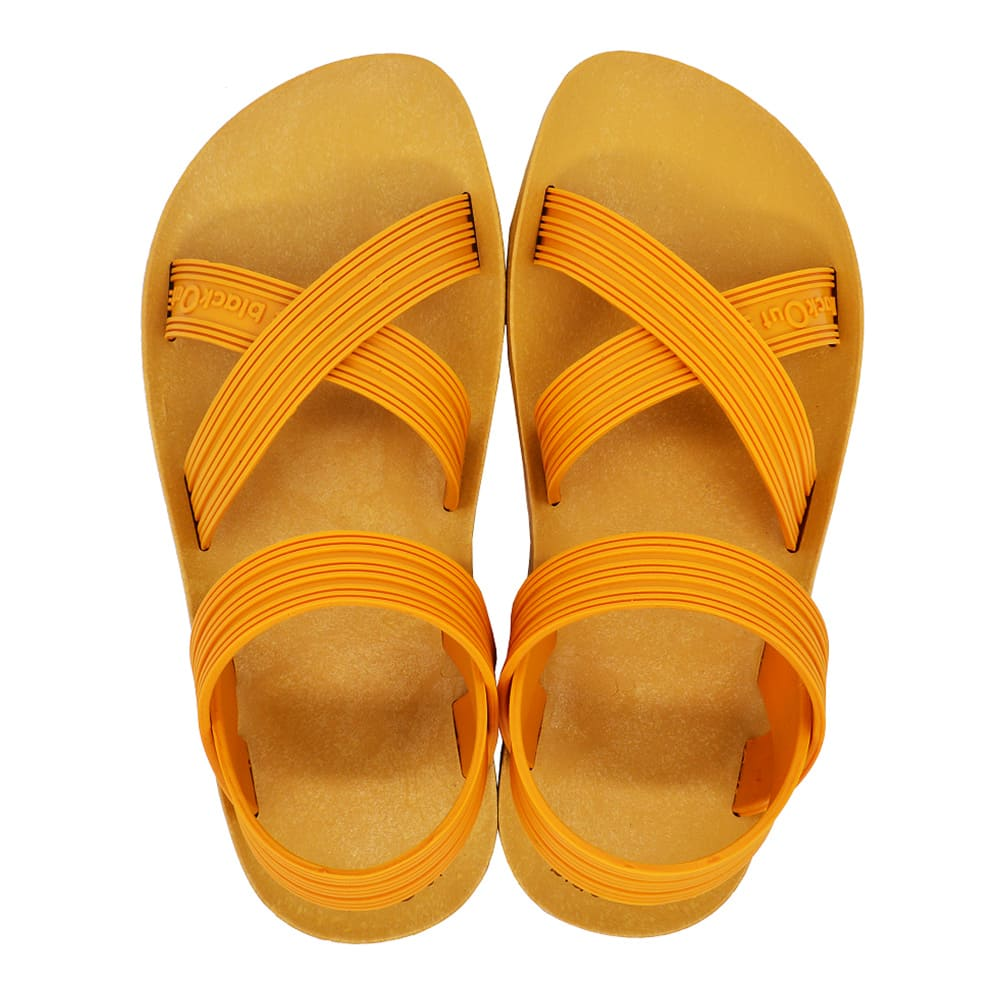 blackOut 訂製X系列涼鞋-素色款-黃底+黃鞋帶