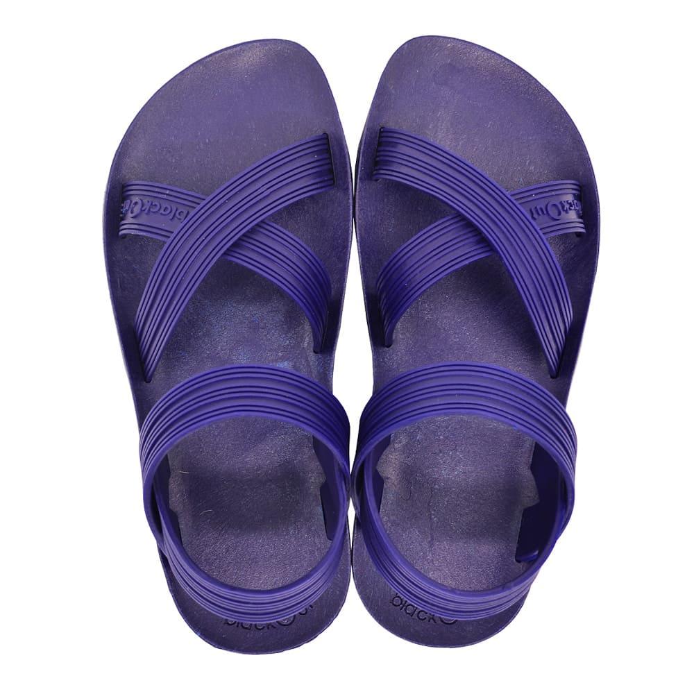 blackOut|訂製X系列涼鞋-素色款-藍底+藍鞋帶
