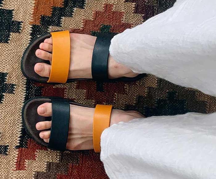 blackOut|訂製配色寬帶拖鞋