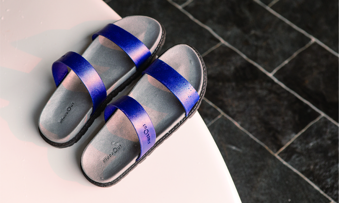 (複製)blackOut|訂製寬帶拖鞋-灰底+黑鞋帶