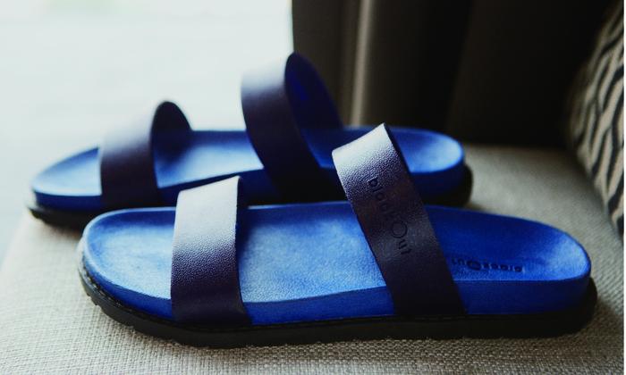 (複製)blackOut 訂製寬帶拖鞋-藍底+黑鞋帶