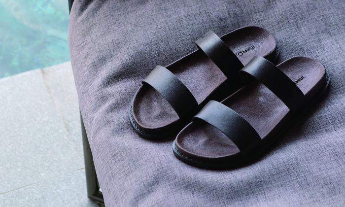(複製)blackOut 訂製寬帶拖鞋-巧克力底+芥黃鞋帶