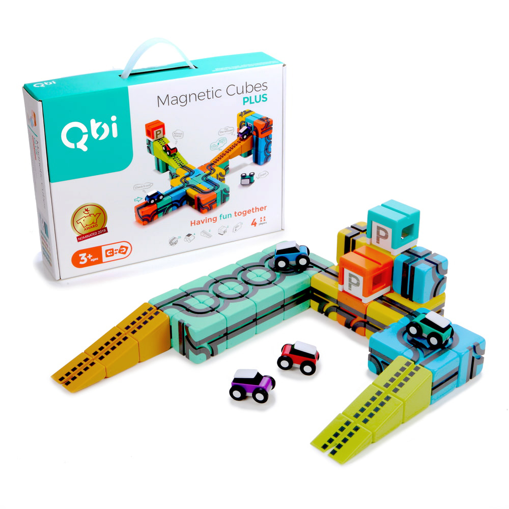 Qbi|益智磁吸軌道玩具-同樂組