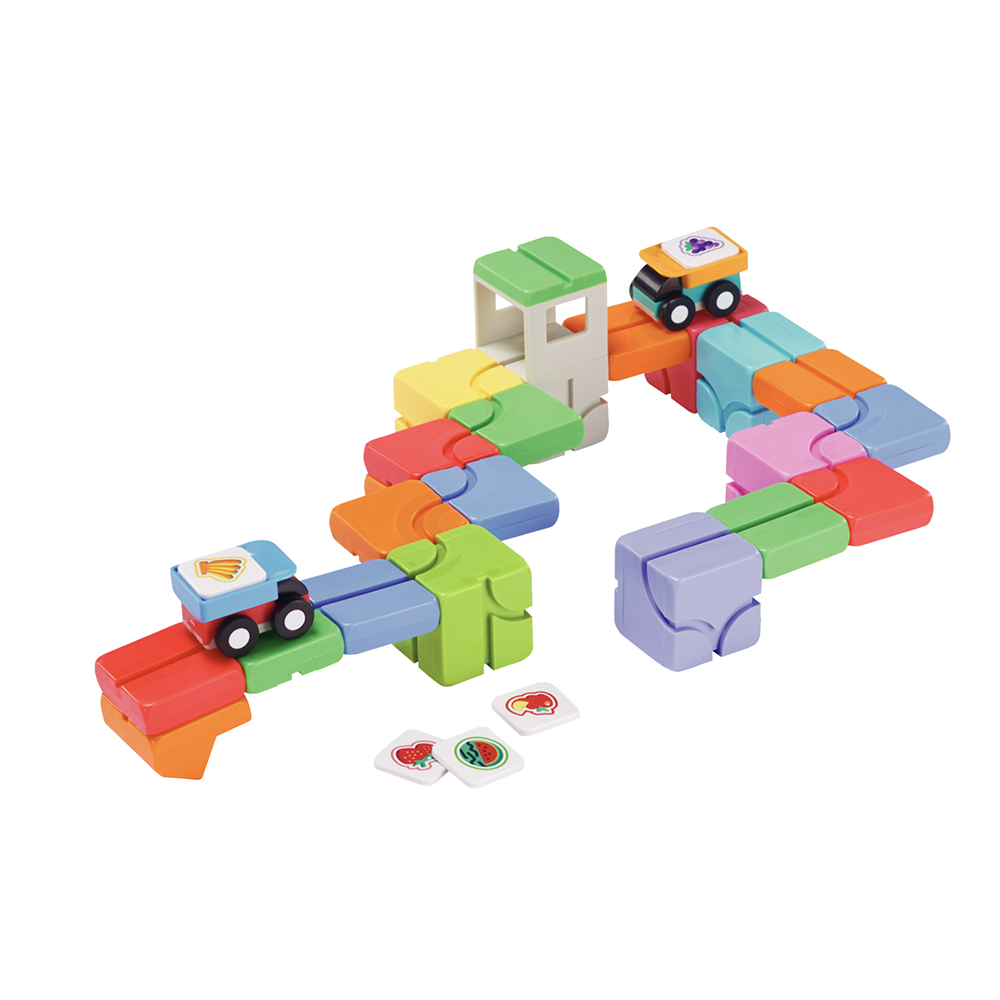 Qbi|益智磁吸軌道玩具-擴充系列-成長探索包