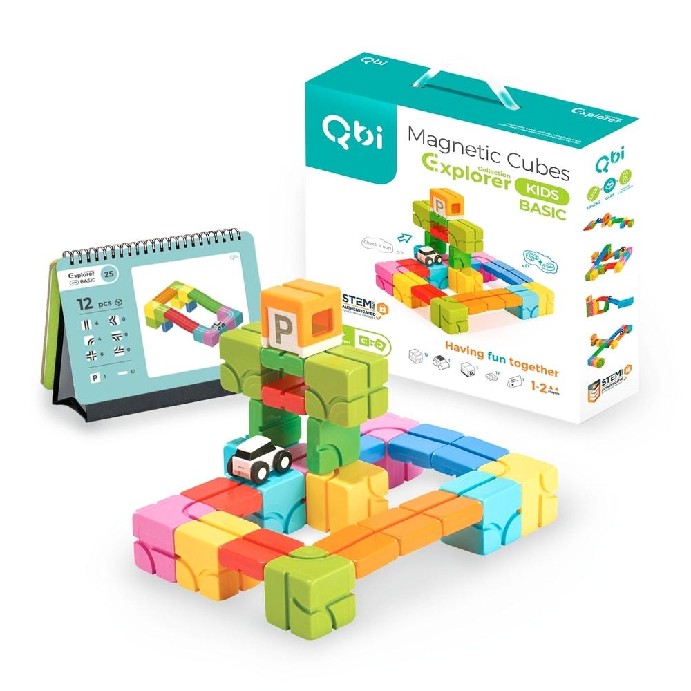 Qbi|益智磁吸軌道玩具-成長探索系列-兒童基礎組