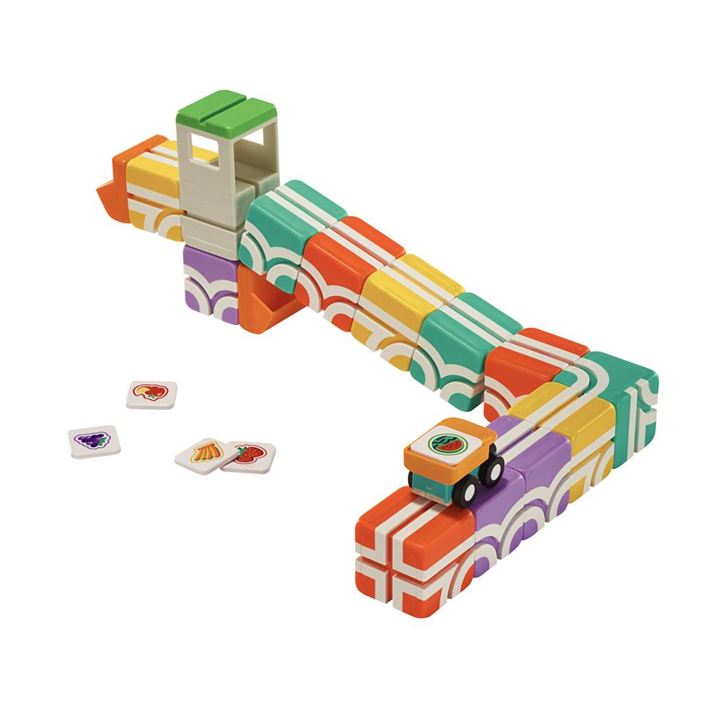 Qbi|益智磁吸軌道玩具-成長探索系列-幼幼基礎組