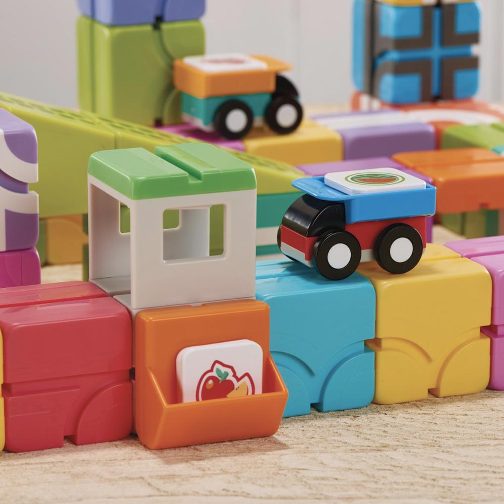 Qbi|益智磁吸軌道玩具-同樂組+成長探索包
