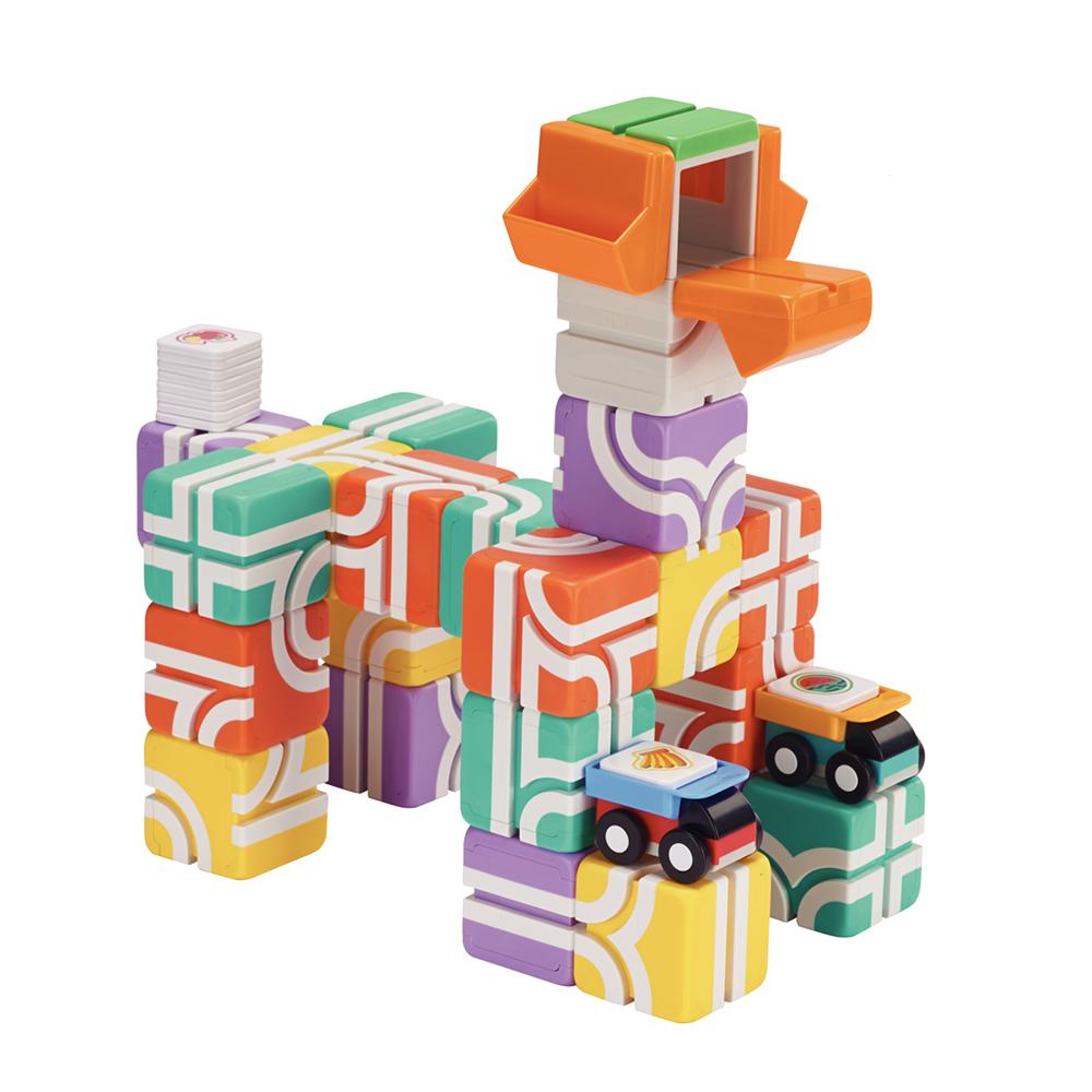 Qbi|益智磁吸軌道玩具-成長探索系列-幼幼同樂組