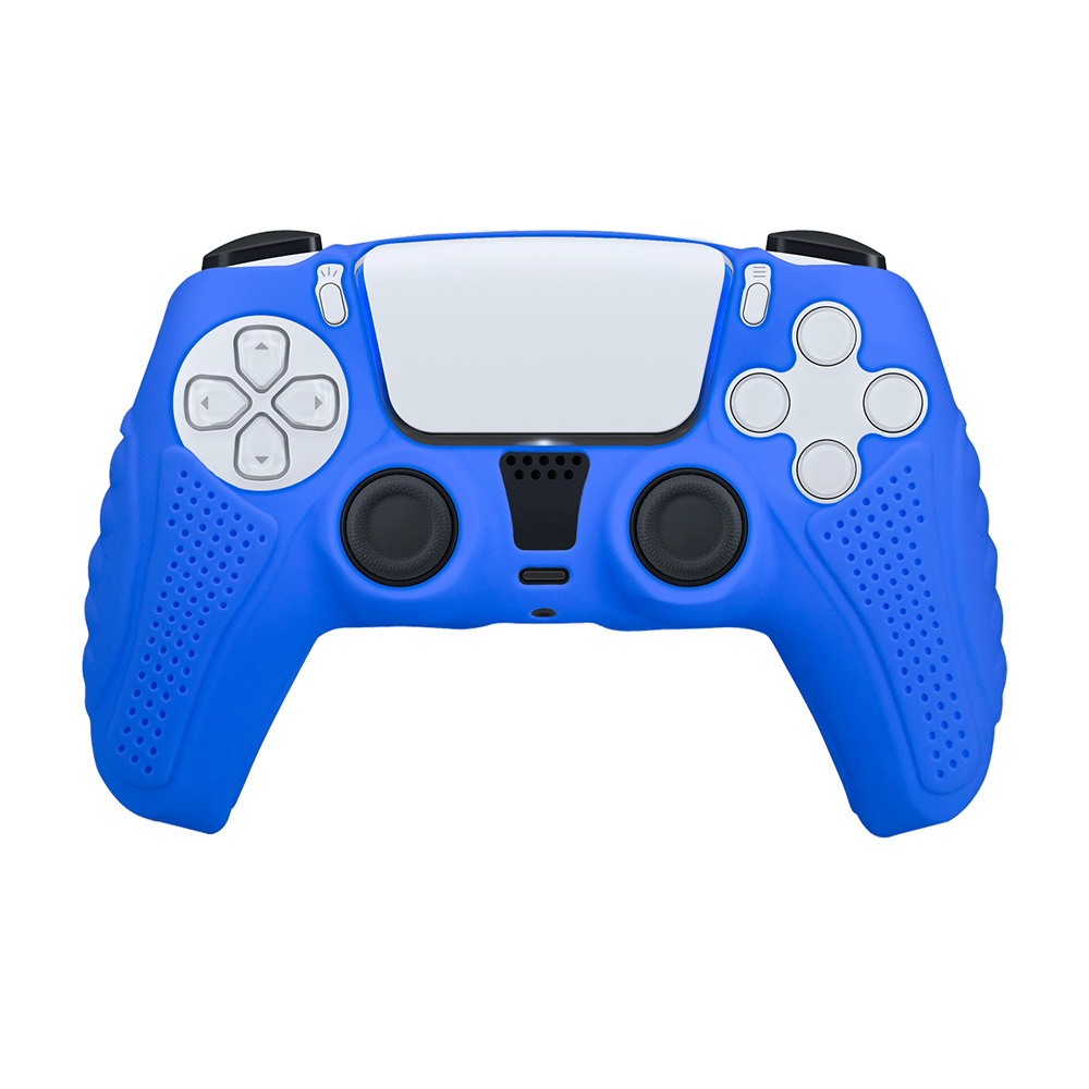 富雷迅FlashFire|PS5 DualSense高質感手把果凍保護套-深藍
