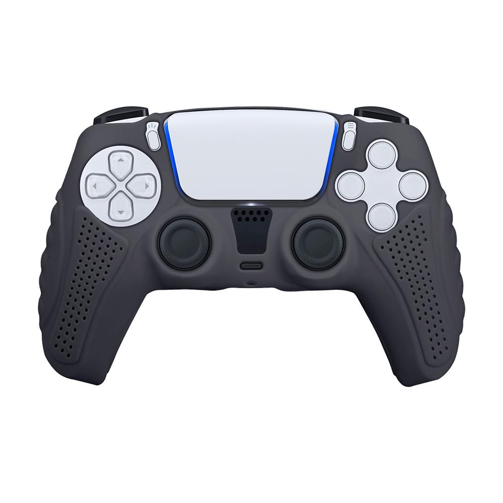 富雷迅FlashFire|PS5 DualSense高質感手把果凍保護套-黑