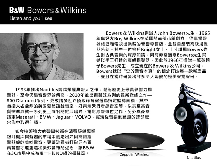 Bowers & Wilkins|Formation Wedge 無線串流喇叭【銀色】