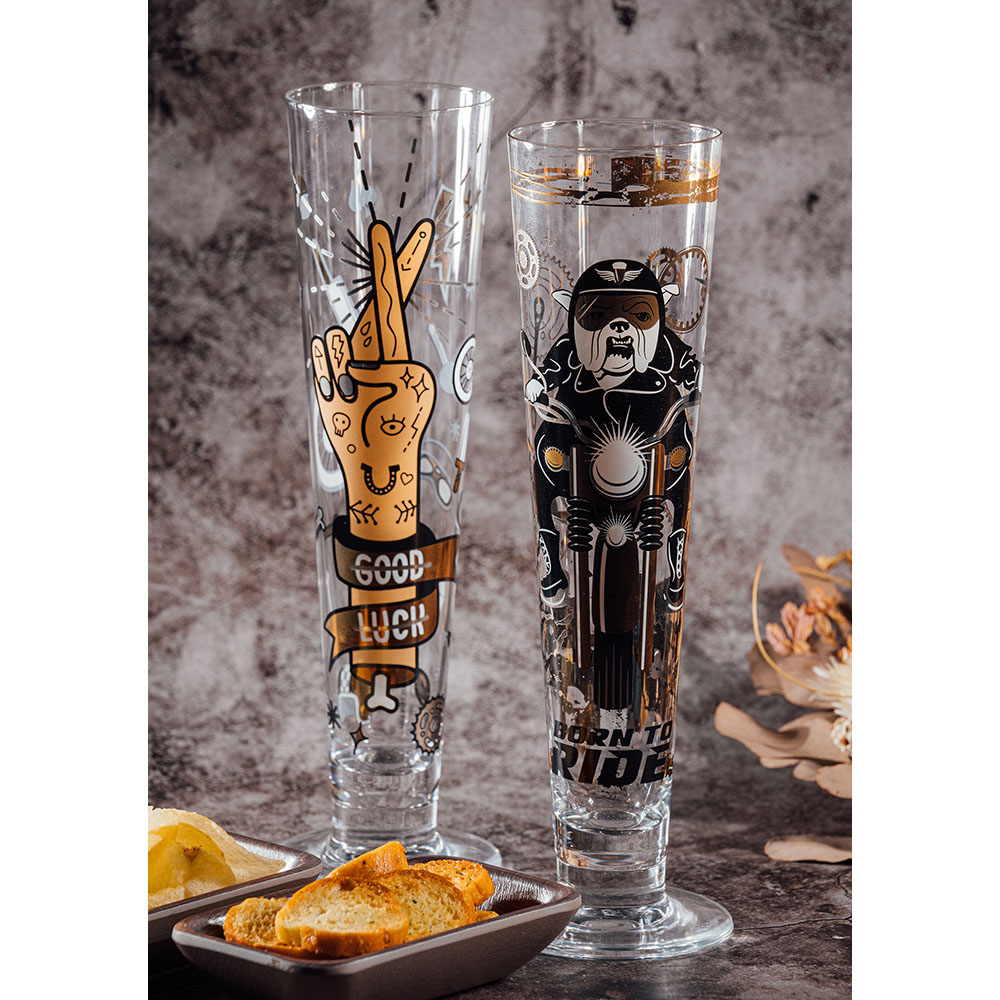 德國 RITZENHOFF 黑標經典啤酒杯 / BLACK LABEL 飆車犬
