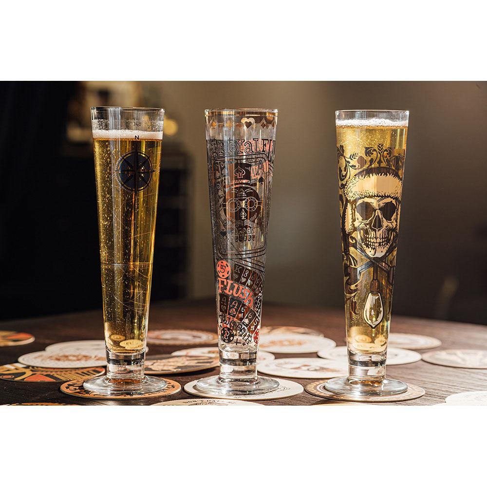 德國 RITZENHOFF 黑標經典啤酒杯 / BLACK LABEL 撲克王