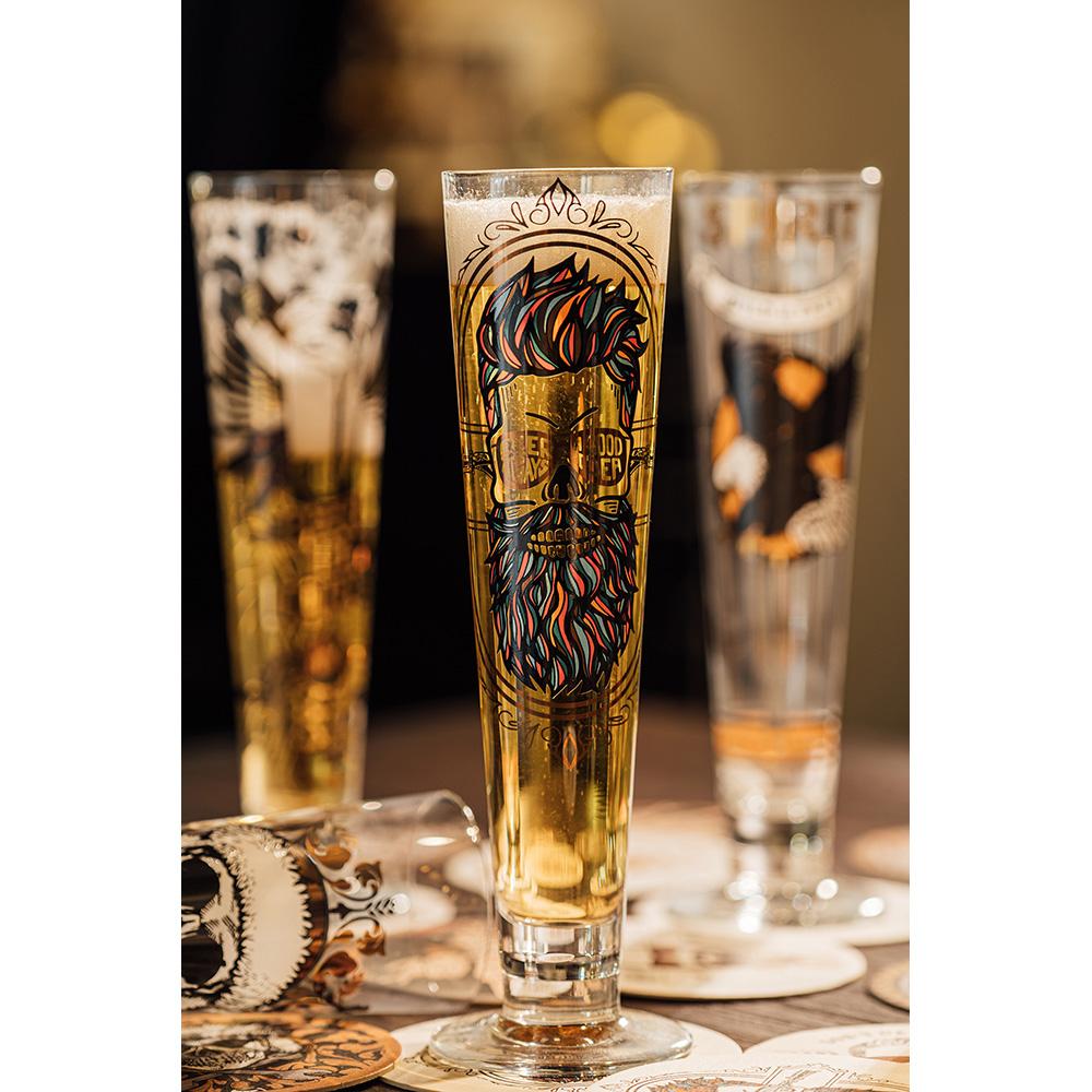 德國 RITZENHOFF 黑標經典啤酒杯 / BLACK LABEL 藍鬍子