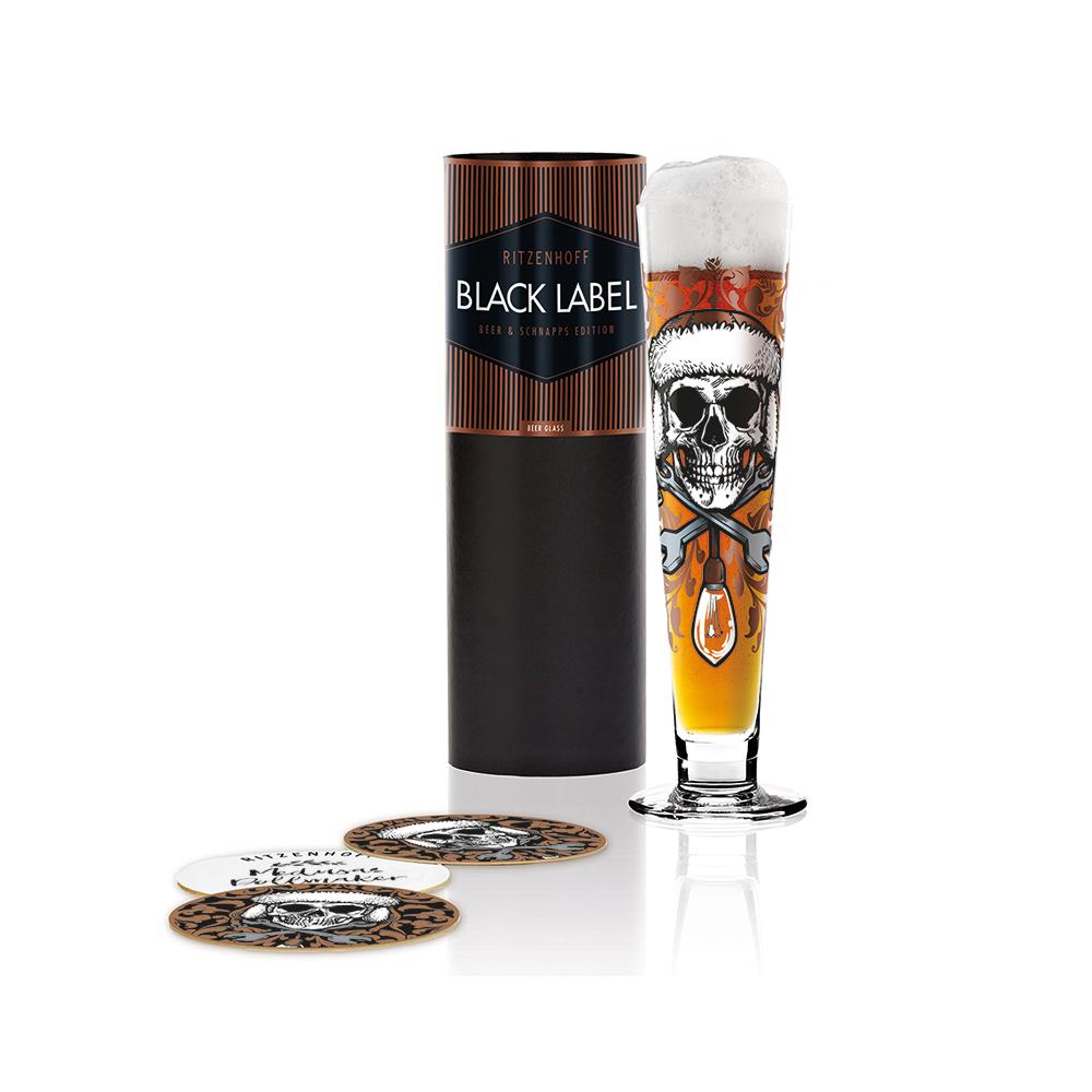 德國 RITZENHOFF|黑標經典啤酒杯 / BLACK LABEL 骷顱啤酒王