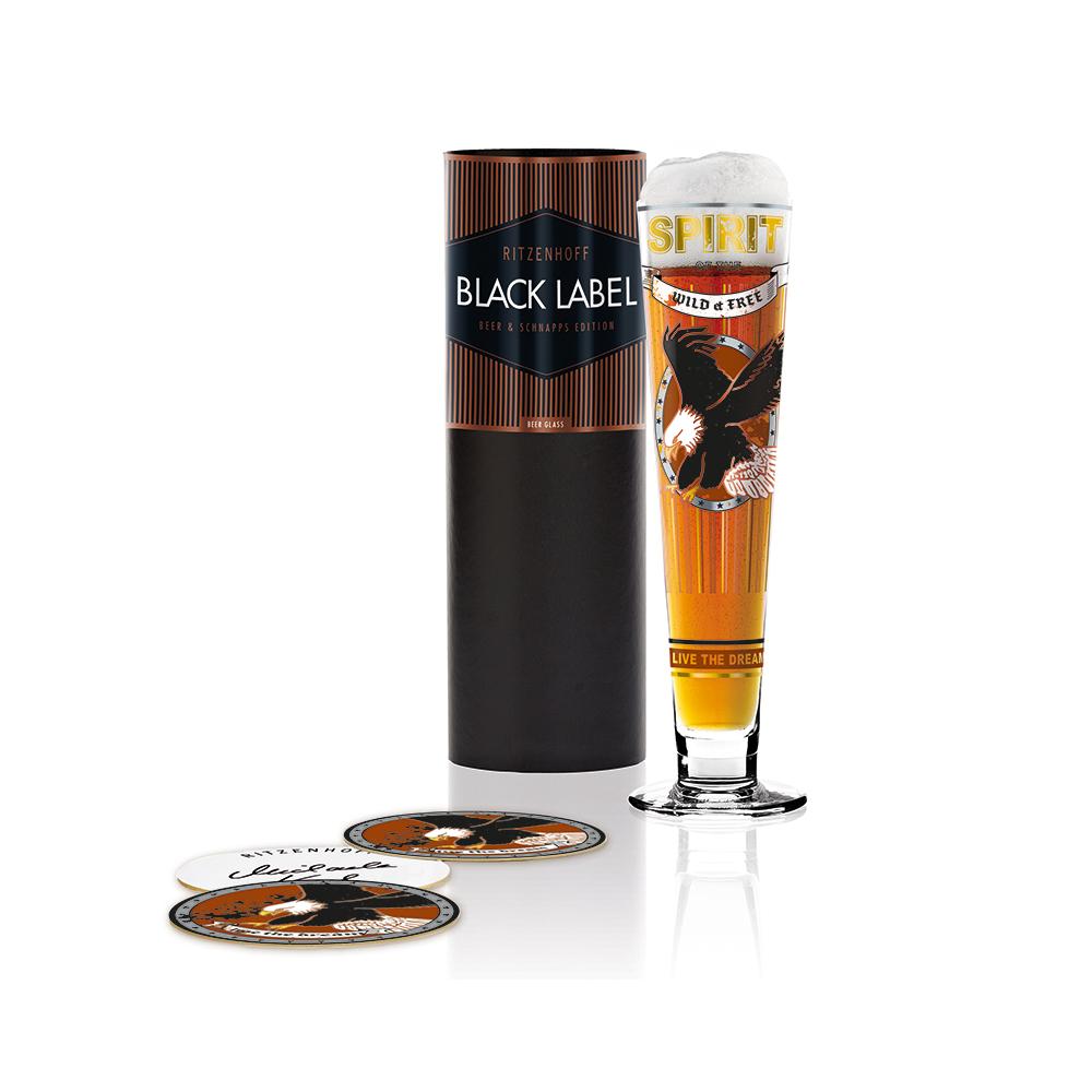 德國 RITZENHOFF 黑標經典啤酒杯 / BLACK LABEL 翱翔飛鷹