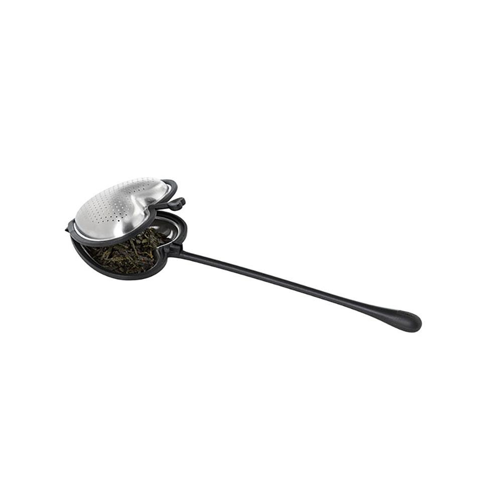 德國 AdHoc|愛心造型濾茶棒(含座) / 經典黑