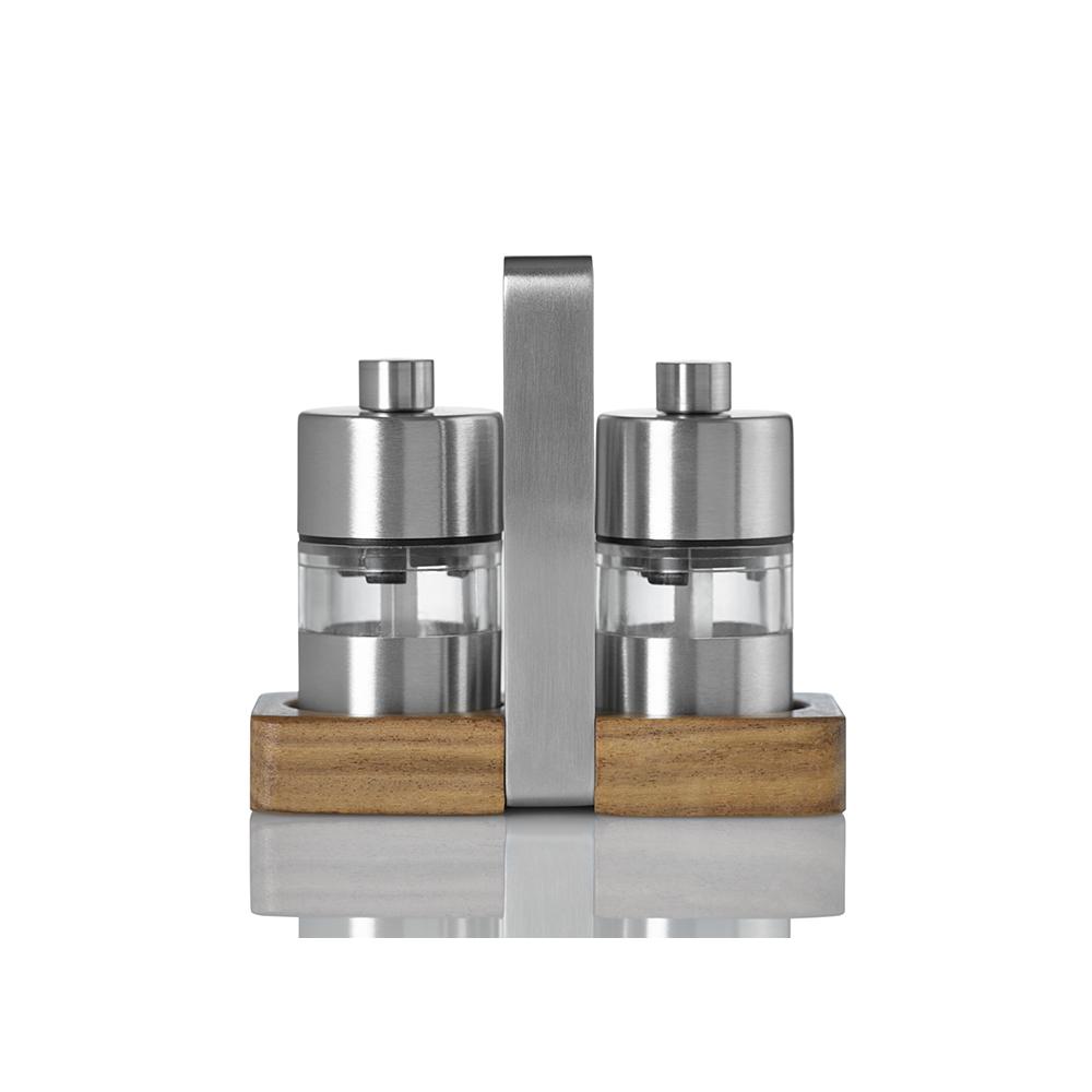 德國 AdHoc|迷你陶刀研磨罐(兩入)木座組
