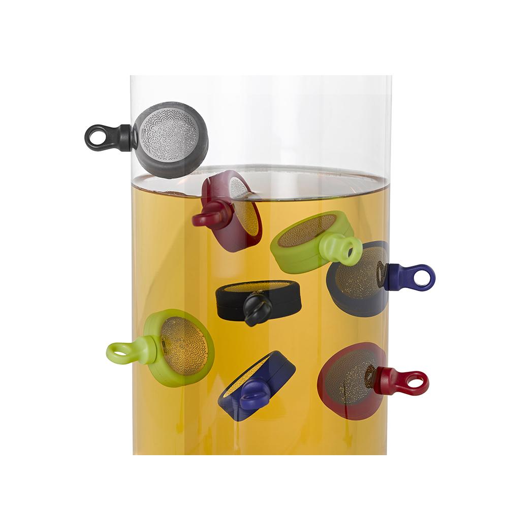 德國 AdHoc|磁吸式濾茶器(含座) / 寶藍色