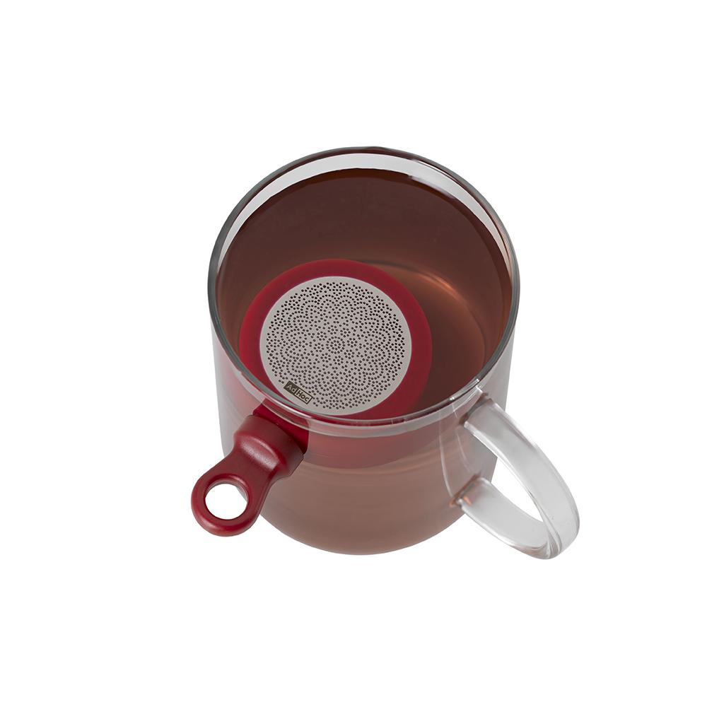 德國 AdHoc|磁吸式濾茶器(含座) / 潮紅色