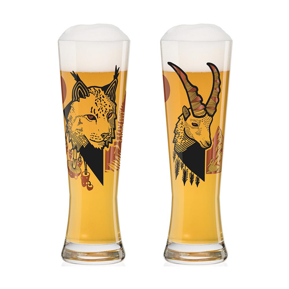 德國 RITZENHOFF|黑標小麥啤酒對杯 / BLACK LABEL WEIZEN 山貓與羚羊