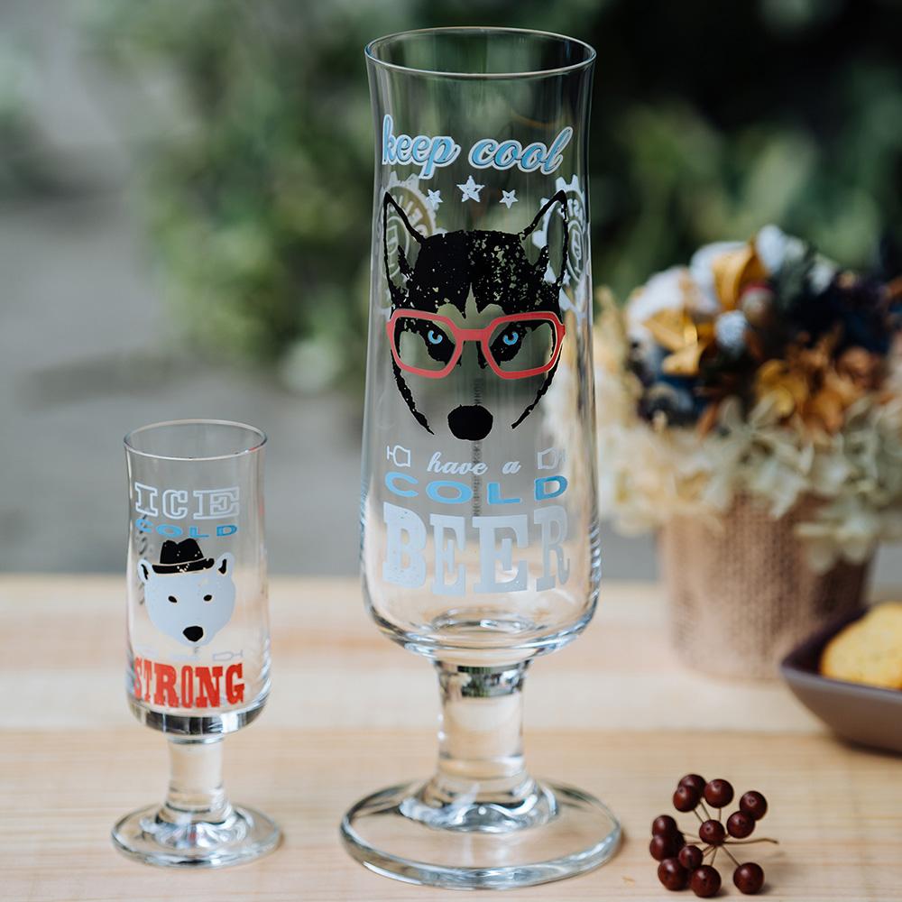 德國 RITZENHOFF 新式啤酒及烈酒杯組-酷酷眼鏡狗/酷冰狗
