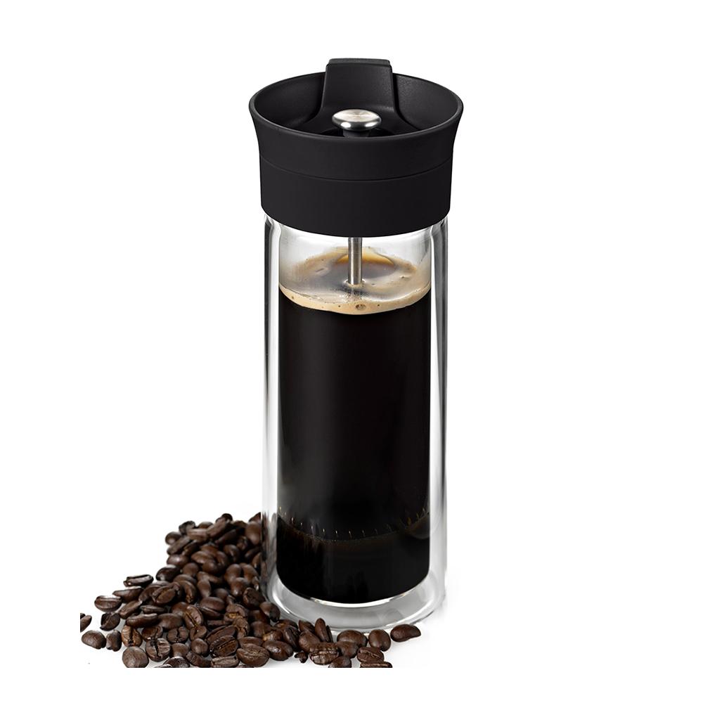 德國 AdHoc 法式雙層玻璃咖啡濾壓杯