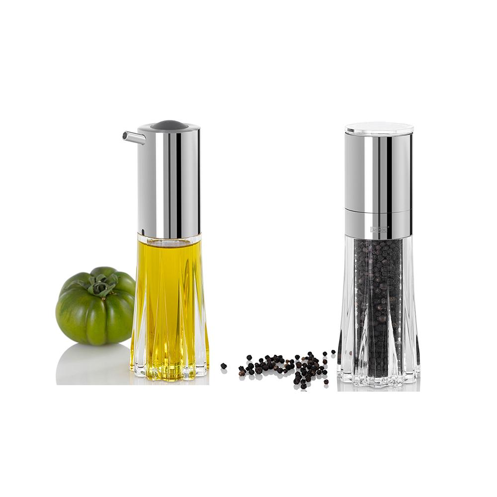 德國 AdHoc CRYSTAL水晶陶瓷刀研磨罐及流量控制油醋罐組(各一入)