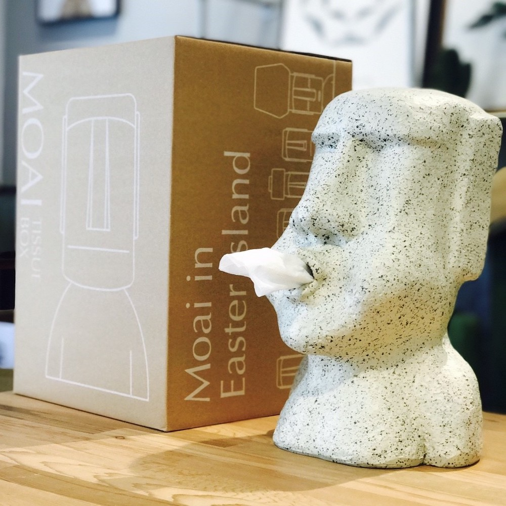 MERCI Design|啾啾摩艾面紙盒