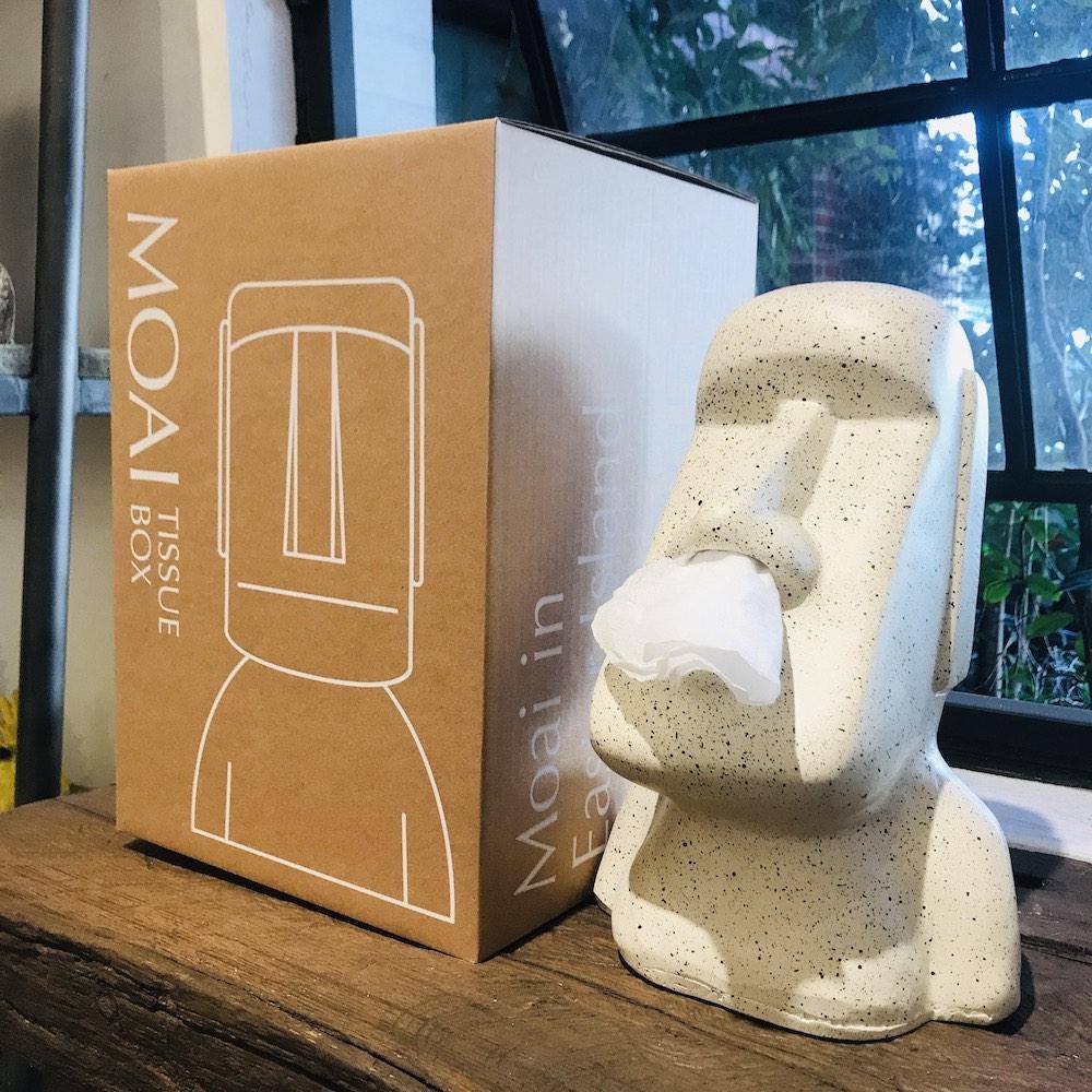 MERCI Design|戽斗摩艾面紙盒