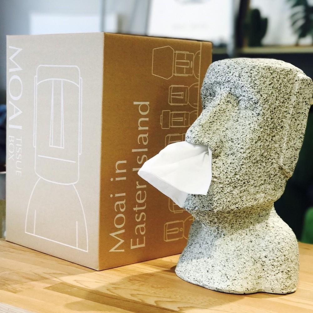 MERCI Design|鼻抽摩艾面紙盒