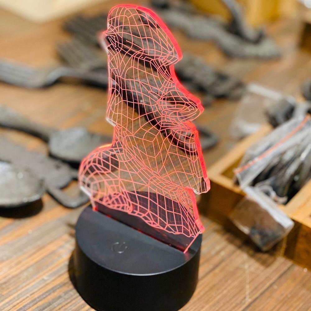 MERCI Design|3D立體摩艾桌燈