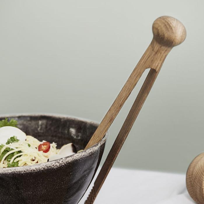 (複製)Sagaform  Nature 橡木底座玻璃沙拉碗