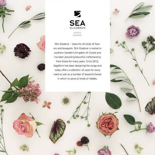 Sagaform|SEA Glasbruk花影蝶飛花器