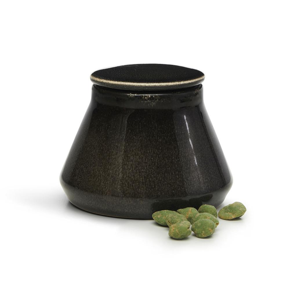 Sagaform|Nature 復古黑釉彩密封罐550ml