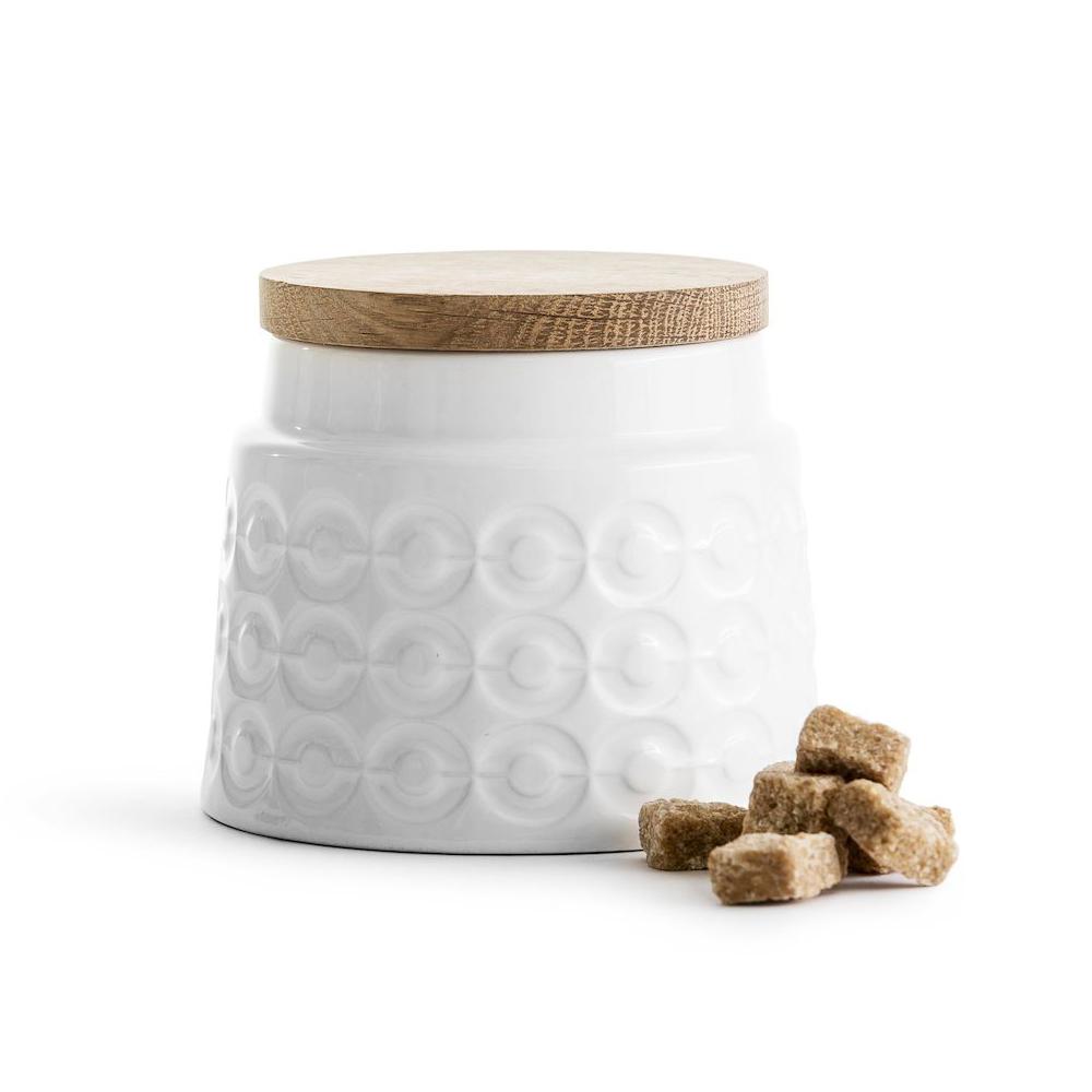 Sagaform|Nature 橡木蓋經典壓紋密封罐500ml