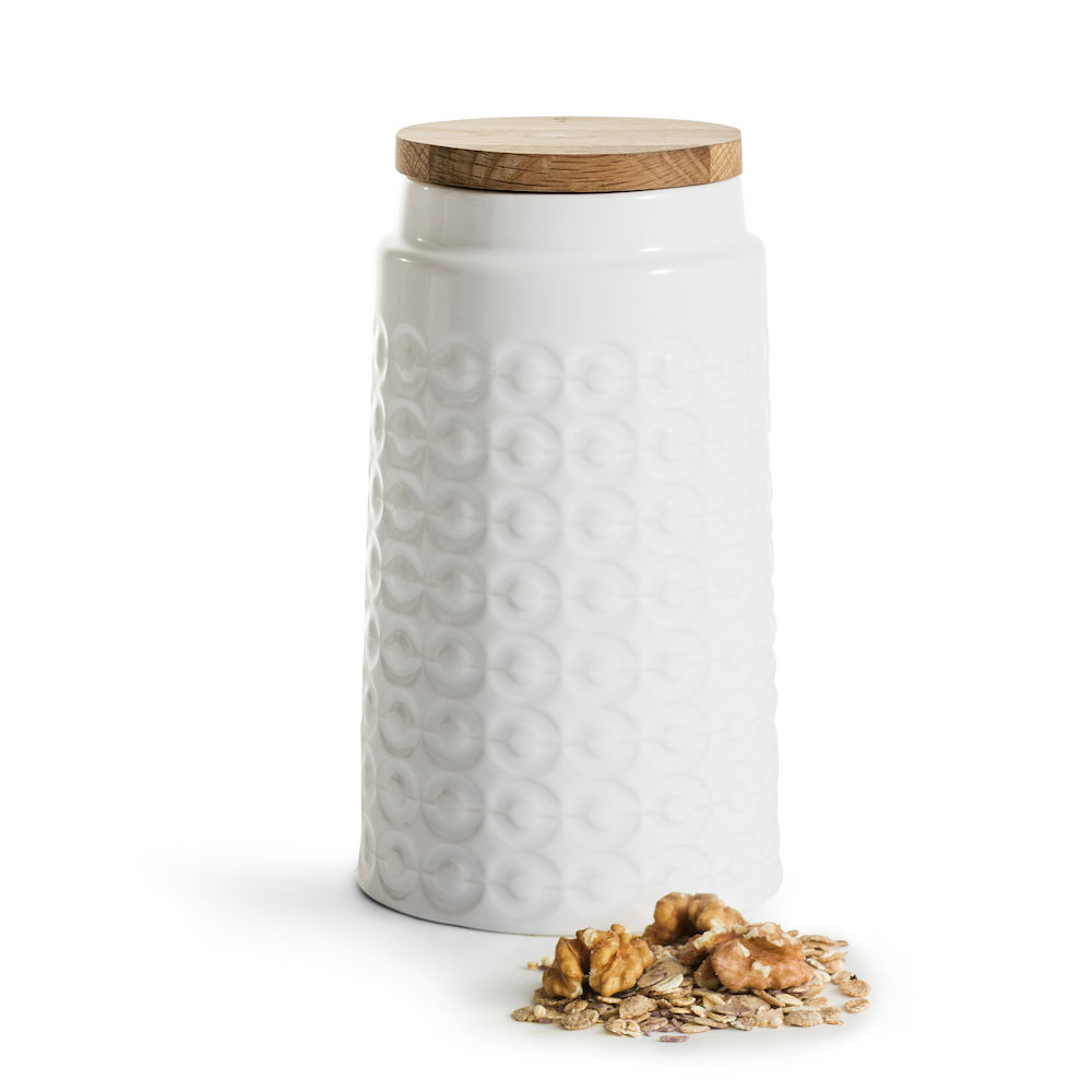 Sagaform|Nature 橡木蓋經典壓紋密封罐1.2Liter