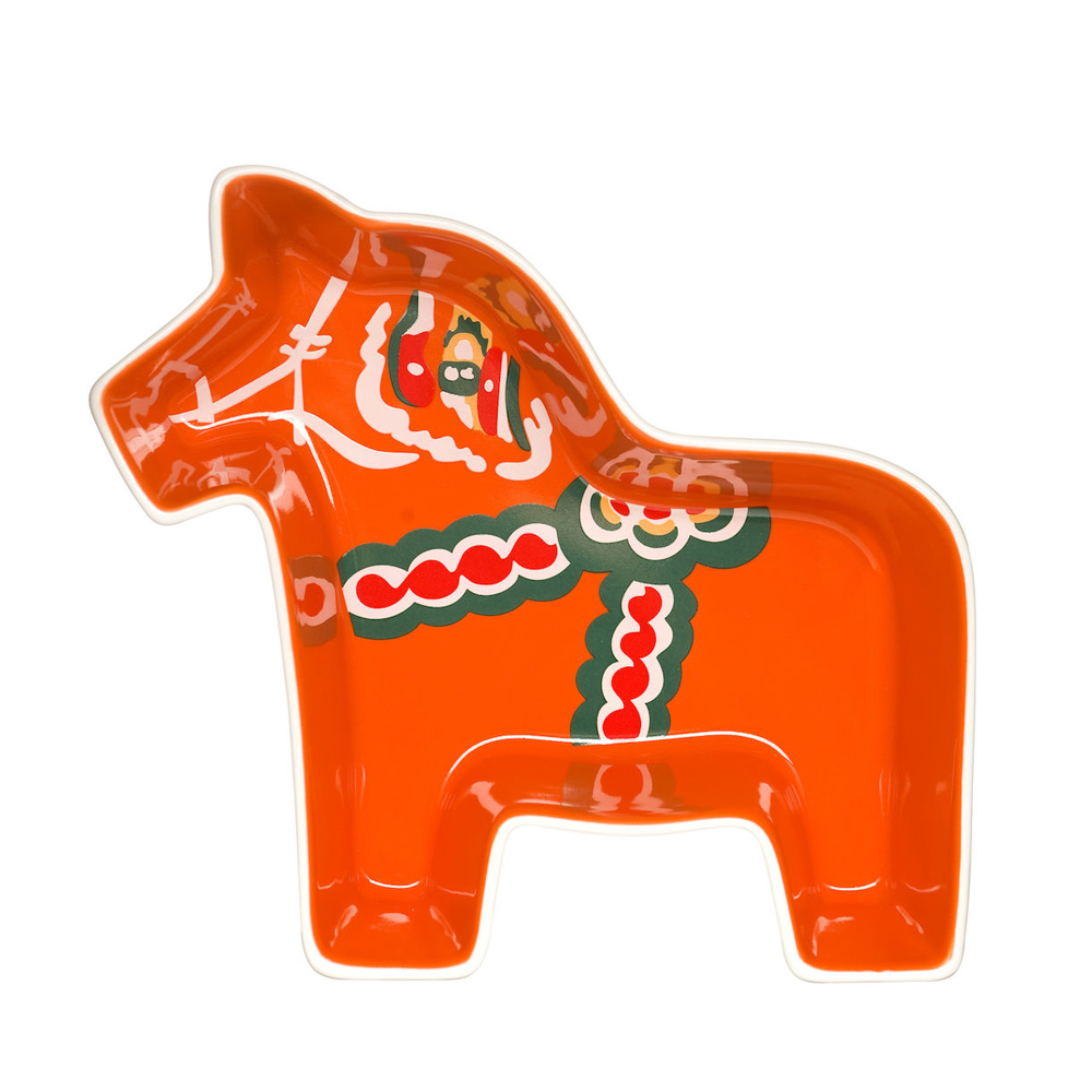 Sagaform|達拉木馬造型盤(紅)