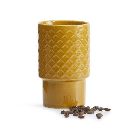 Sagaform Coffee & More 拿鐵杯400ml-黃