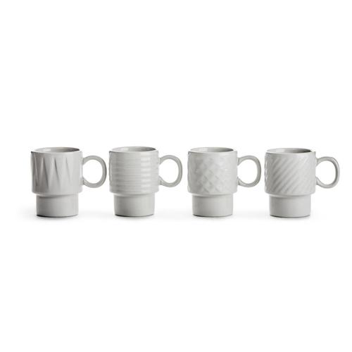 Sagaform|Coffee & More 濃縮咖啡杯100ml 4入-白