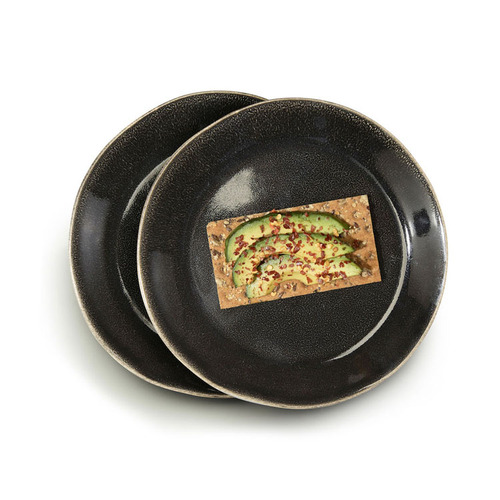 Sagaform|Nature 瓷釉彩餐盤22cm 2入(黑)