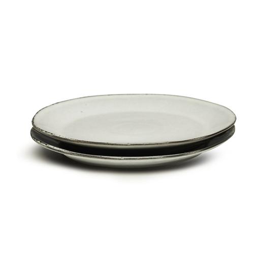 Sagaform|Nature 瓷釉彩餐盤22cm 2入(淺灰)