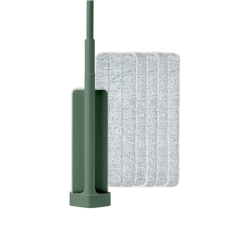百潔 PERCENT|QUICK MOP 平板拖把1入(綠)+替換拖布5入