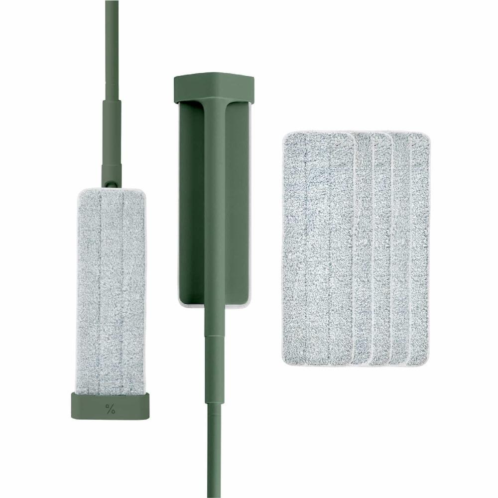 百潔 PERCENT|QUICK MOP 平板拖把2入(綠)+替換拖布10入